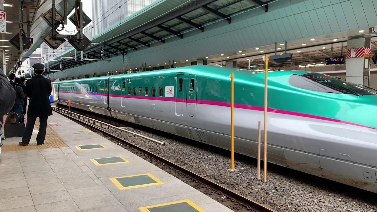 上越新幹線 E7系 営業運転初日 - YouTube