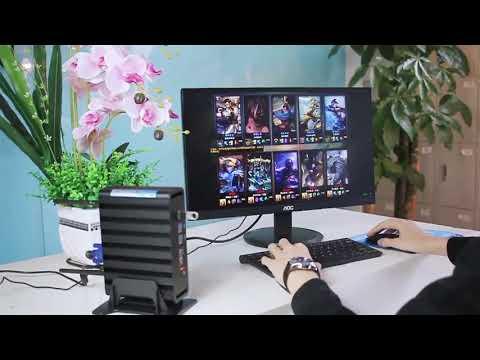 Смотреть Intel Core i7 7500U i5 7200U i3 7100U Mini PC Windows 10 Mini Computer 8GB RAM 240GB SSD 4K онлайн