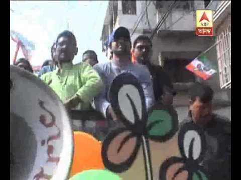 Filmstar Deb campaign for TMC at baranagar
