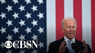 Biden pushes infrastructure plan in Pennsylvania as Democrats near deal on spending bill