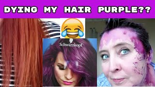 How To Dye Your Hair Purple! Schwarzkopf Urban Metallics From Brown To Amethyst Chrome Review
