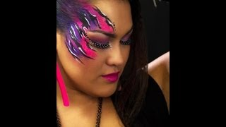 NYX Face Awards 2012 Contest Submission- 80's Retro Look- Makeup & Face Paint