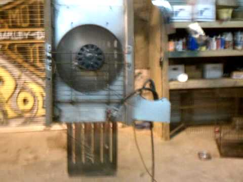 Reznor Heater Converted Using Propane Torpedo Heater Parts