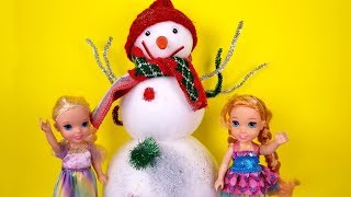 2020 New Year's party ! Elsa & Anna toddlers - Barbie - dance - singing - snowman - games