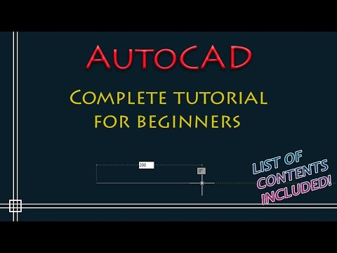 AutoCAD – Complete Tutorial for Beginners – Part 1