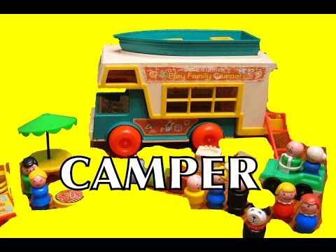 Fisher Price Family Camper Little People Toy Toys 1973 #994 Pretend Camping Fisher-Price