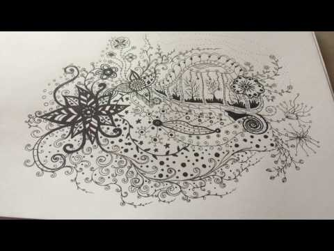 สอนวาดภาพลายเส้นจินตนาการ Doodle by nunny BW6