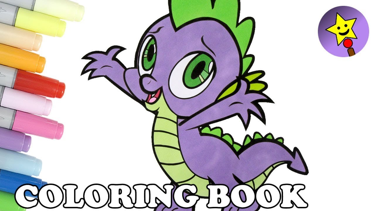 Spike coloring book mlp my little pony spike coloring page for My little pony coloring pages spike