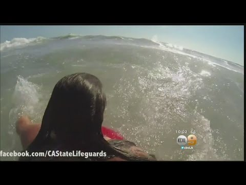 GoPro Video Shows Dramatic Rescue Of Frantic Swimmer Caught In Rip Current