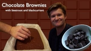 How to make Chocolate Brownies (with beetroot and blackcurrant)