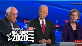 ¿Quién ganó el cuarto debate entre los precandidatos demócratas?   Noticias Telemundo