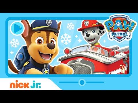 A Snowy PAW Patrol Adventure Sneak Peek W/ Marshall, Chase, Everest & Rubble! | Nick Jr.