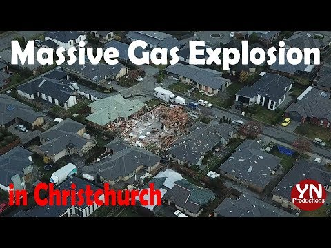 Massive Gas Explosion in Christchurch near our home