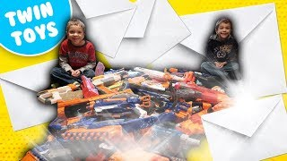 Nerf War:  Mail Time Mayhem 33 New Nerf Mod 2017