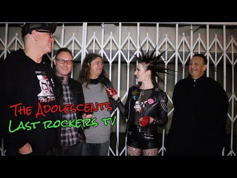 """THE ADOLESCENTS talk """"KIDS OF THE BLACK HOLE"""" APARTMENT w/Erin Micklow for Last Rockers TV"""