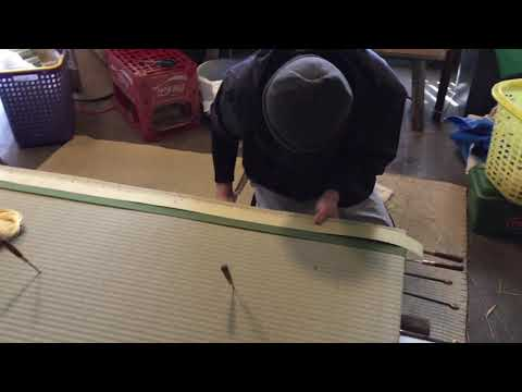 【畳職人手縫い表替え】早技!平刺し縫い