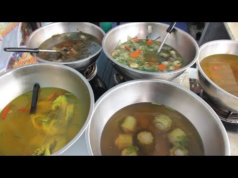 Eat Cheap in Thailand: Khao Gaeng Restaurants | Eating Authentic Thai Food | Budget Travel