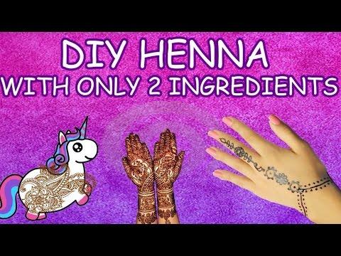 Super Fast And Easy Diy Henna Tattoo Youtube