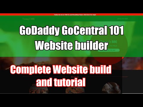 Gocentral 101 (2019) – Tutorial – how to use Godaddy website builder