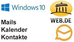Anleitung: Web.de Mails, Kontakte und Kalender in Windows (eM Client)
