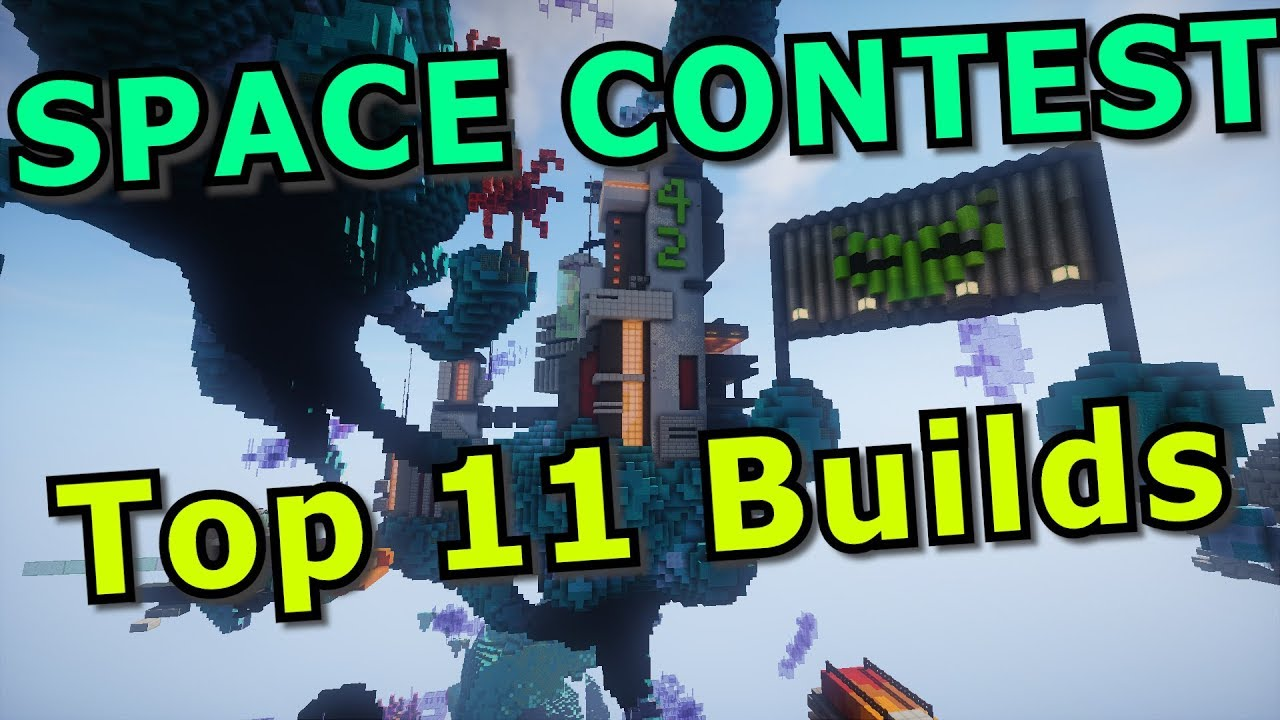 Minecraft SPACE Build Contest Top 11 Creations!