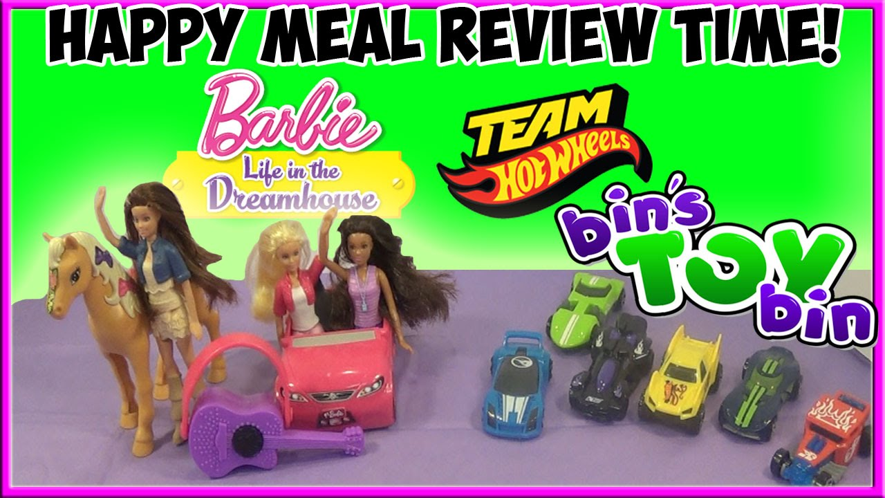 barbie team hot wheels full set happy meal review time barbie team hot wheels 2015 full set happy meal review time shout outs by bin s toy bin