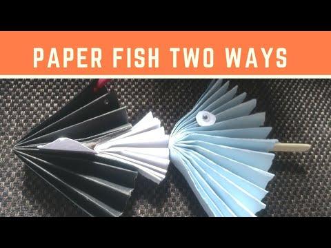 DIY Paper Fish 2 ways!!! Christmas 2017 Kids Crafts!!