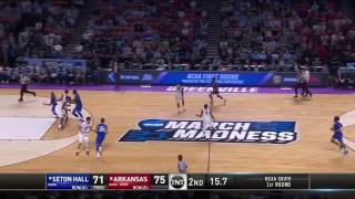 Arkansas vs Seton Hall March Madness Highlights 2017
