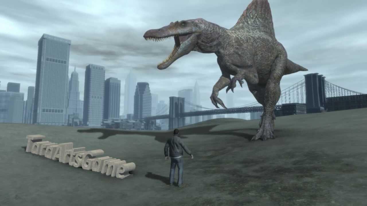 GTA IV - Niko Vs. Spinosaurus (Teaser Trailer) - YouTube