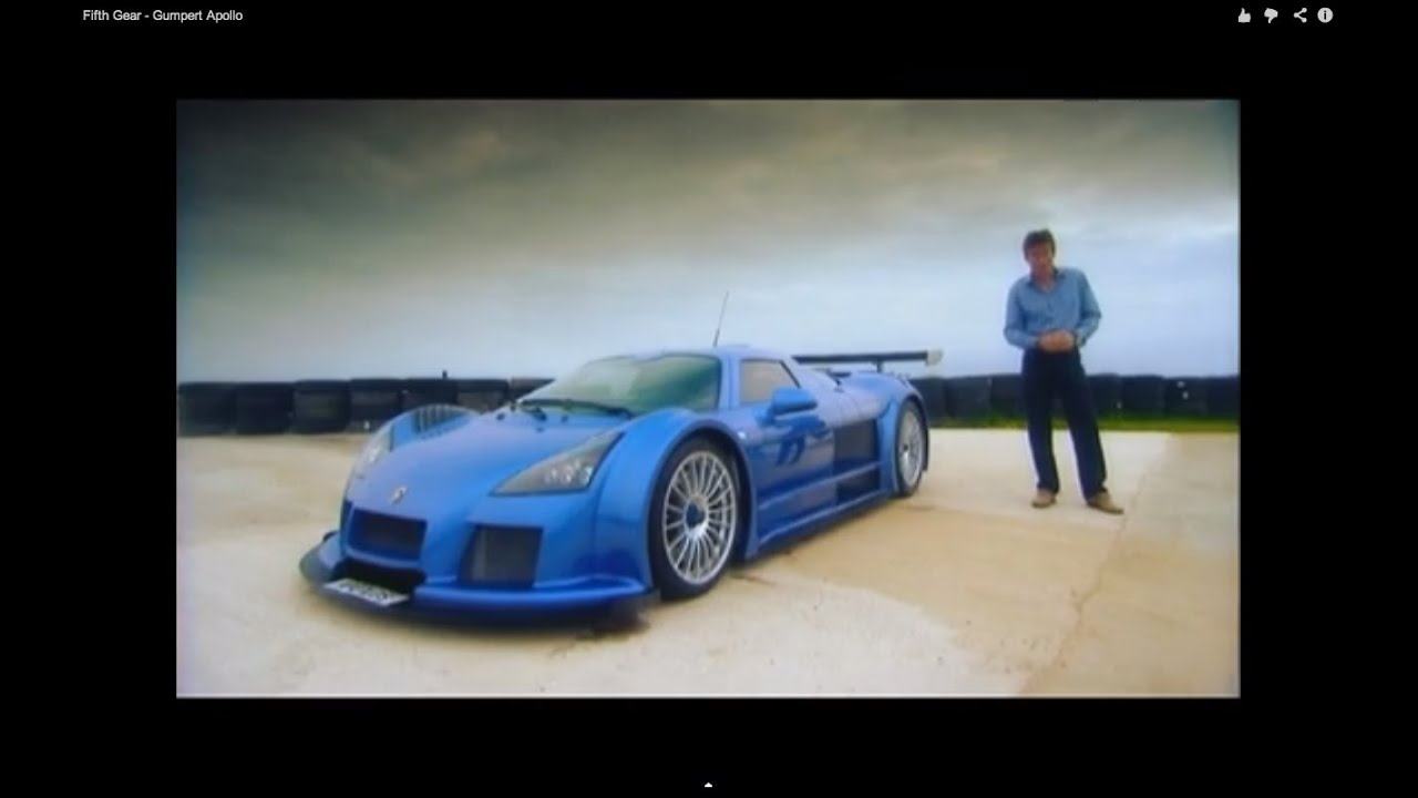 Fifth Gear - Gumpert Apollo - YouTube