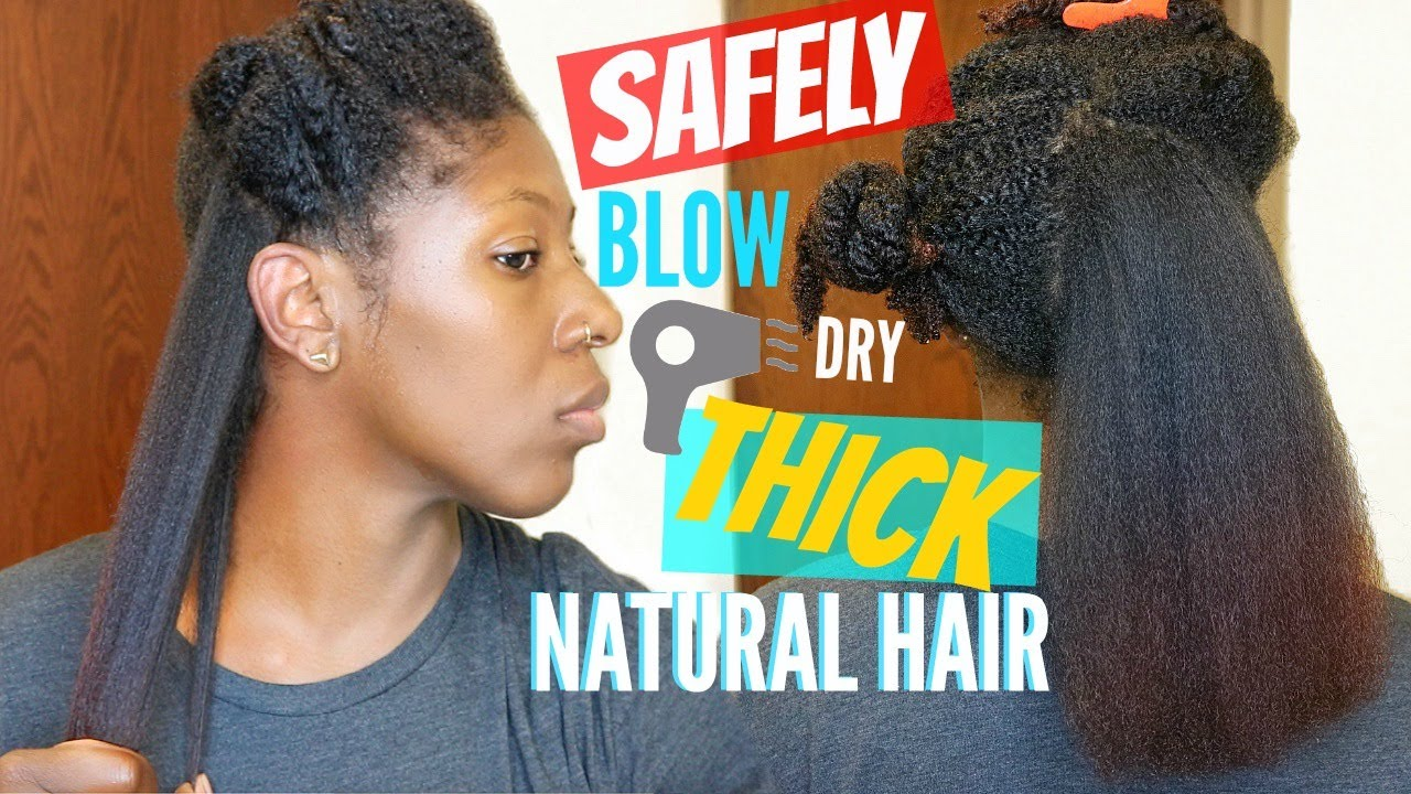 safely blow dry thick
