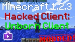 Minecraft - 1.2.3 Hacked Client - UnBorn Client, ft. WiZARD HAX - WAY➚