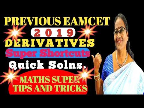 PREVIOUS EAMCET-2019 Derivatives
