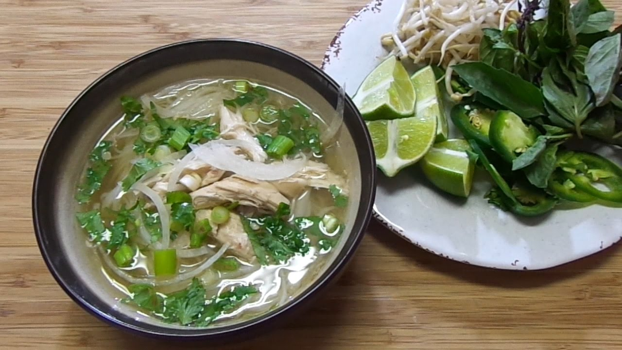 Slow Cooker Chicken Pho Easy Pho Gai Recipe Youtube