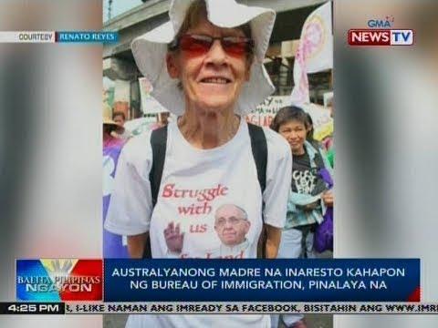 BP: Australyanong madre na inaresto kahapon ng Bureau of Immigration, pinalaya na
