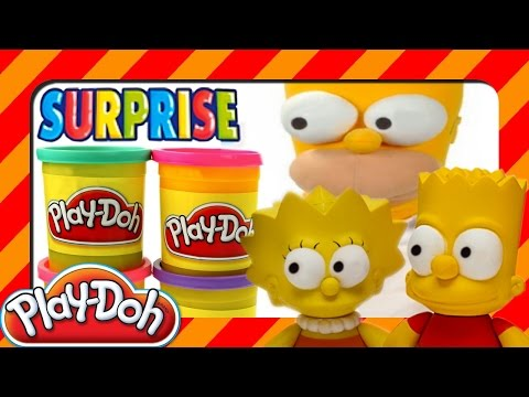 15 Toys Play Doh Kinder Surprise Eggs, Simpsons Disney Looney Tunes in playdough & FIND GOLDEN EGG