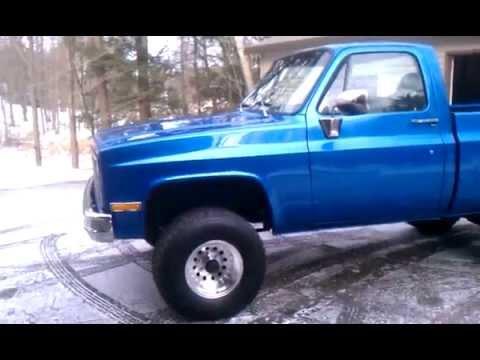 1981 gmc sierra 4x4 truck restored - YouTube