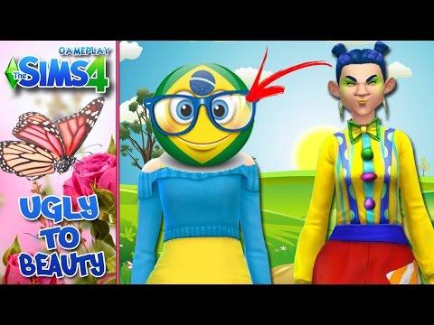The Sims 4 com Facecam - Ugly to Beauty # 8 - A BRASILEIRINHA!
