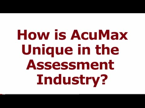 How is the AcuMax Index Unique in the Assessment Industry?