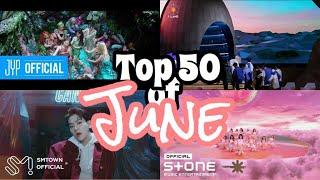 【Kpop Top 50】#40 Top 50 Kpop songs in June  六月份最火熱的歌曲  KpopWorld