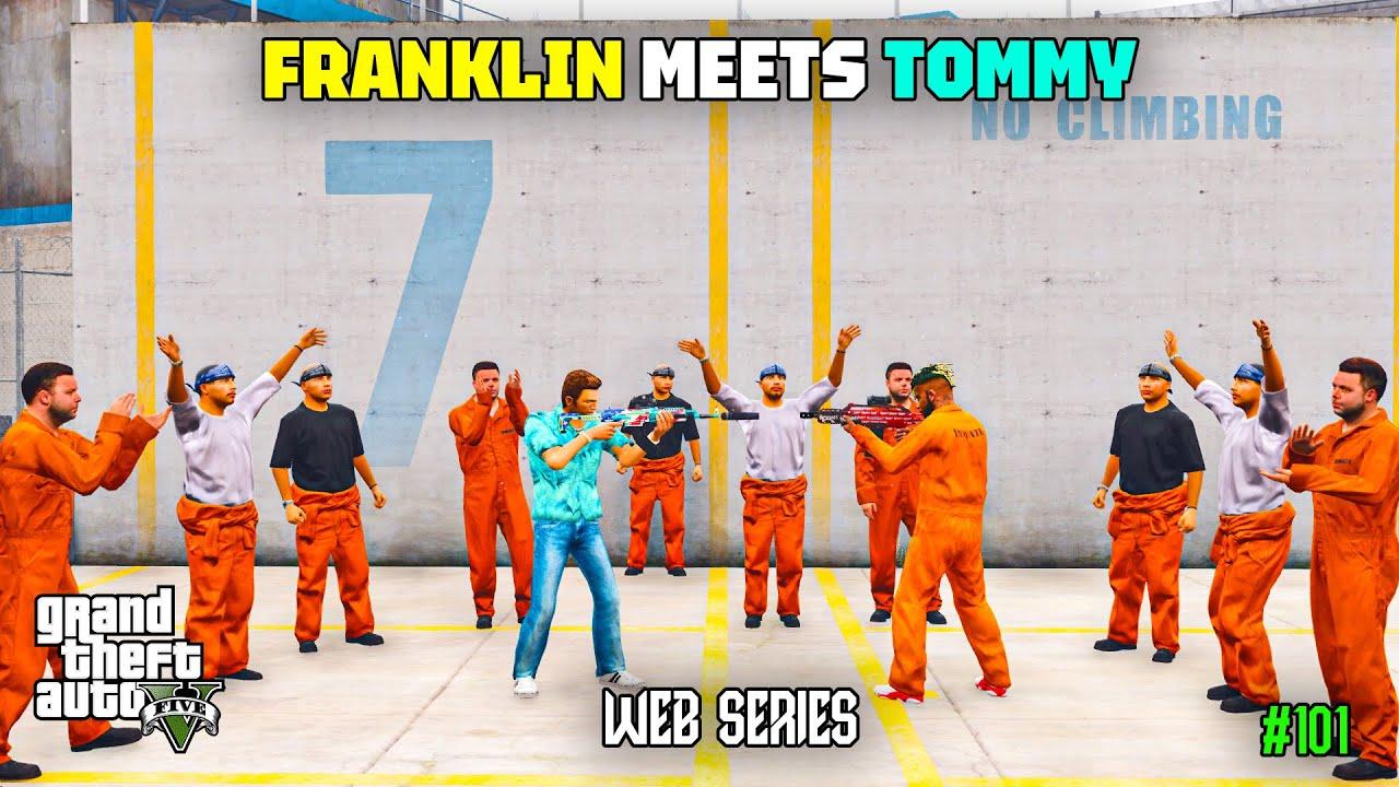 Franklin Meets Tommy Vercetti in Prison | GTA 5 Web Series Malayalam #101