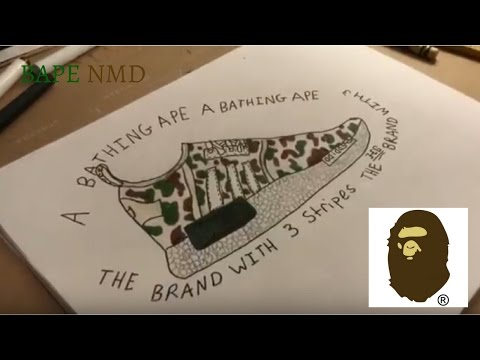 "How To Draw Bape NMD ""Green Camo""- Episode #20"