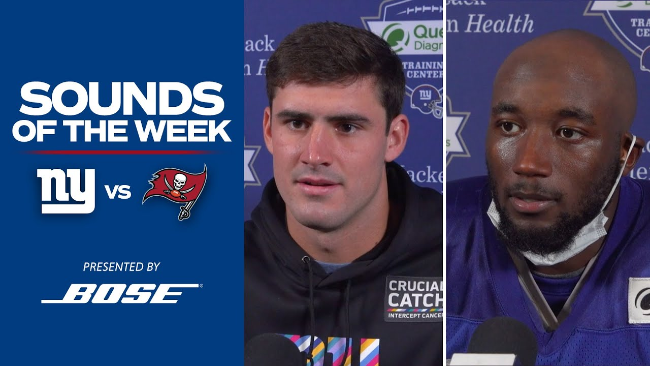 """Giants vs. Buccaneers Top Sounds of the Week: """"We have to build off the positives"""" 