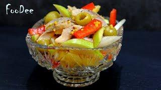 """Салат """"Новинка"""" с селедкой – Очень простой вкусный салат без майонеза! Herring salad recipe"""