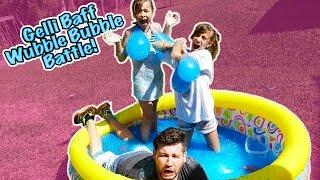 gelli baff wubble bubble water balloon battle who will win