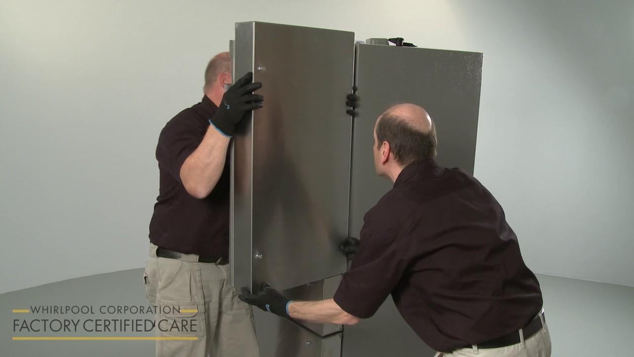 Kitchenaid Refrigerator Installation Model Krmf706ess01 Youtube