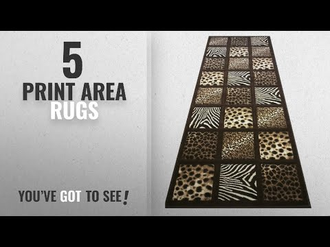Top 10 Print Area Rugs [2018 ]: Animal Prints Runner Rug 32 In. X 7 Ft. Sculpture 251 Chocolate