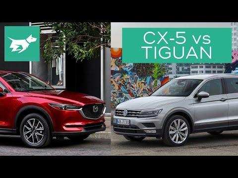 2017 Mazda CX 5 vs 2017 Volkswagen Tiguan Comparison Review