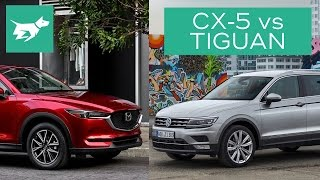 2017 Mazda CX-5 vs 2017 Volkswagen Tiguan Comparison Review