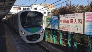 西武鉄道30000系(8+2両)清瀬駅を通過